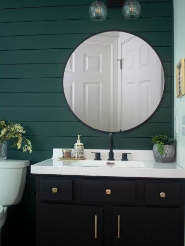 From Builder Grade to Statement Bathroom