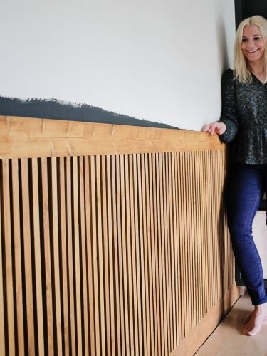 One Room Challenge Week 2- Slat Wainscoting Feature Wall